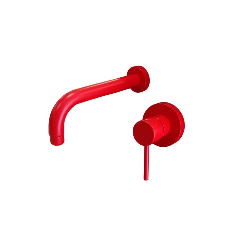 Μπαταρία νιπτήρα εντοιχιζόμενη κόκκινη  Gaboli Fratelli SIMPLY 2270