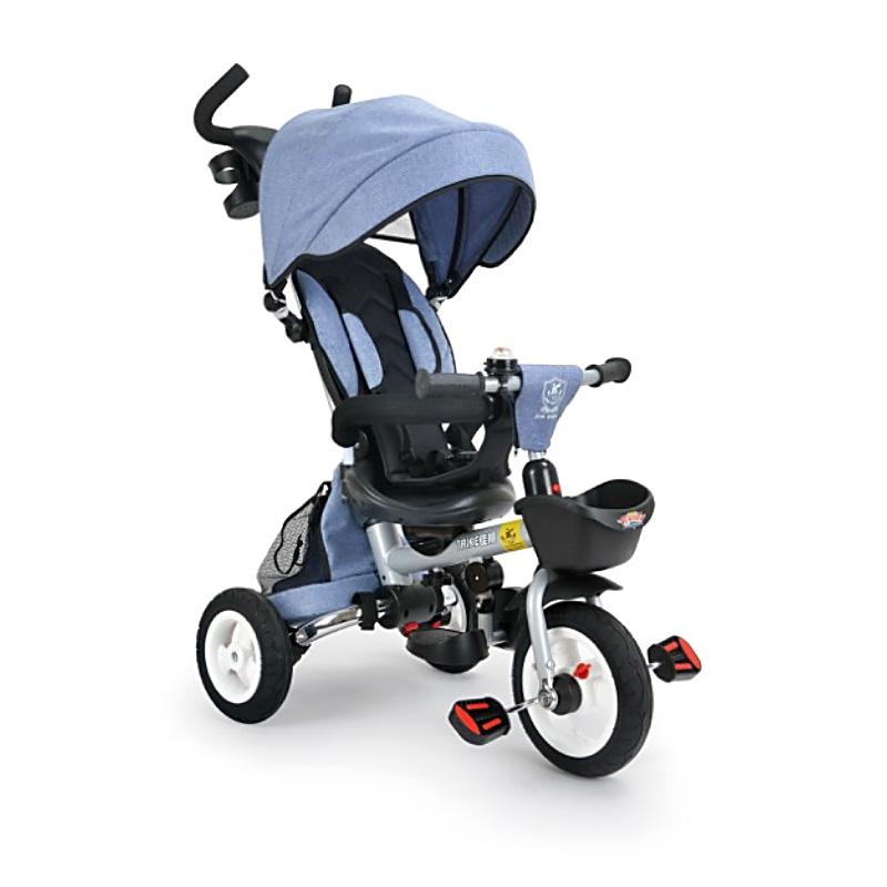 Παιδικό τρίκυκλο ποδήλατο αναδιπλώμενο με μπάρα και τέντα B56 Γαλάζιο
