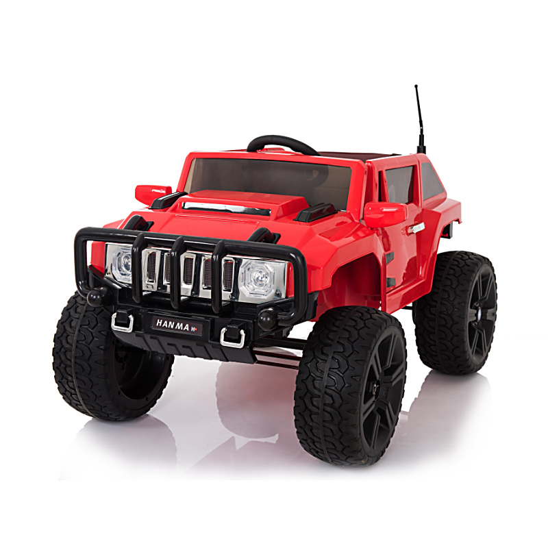 Ηλεκτροκίνητο παιδικό αυτοκίνητο τύπου Hammer Κόκκινο με τηλεκοντρόλ 12v RD007x