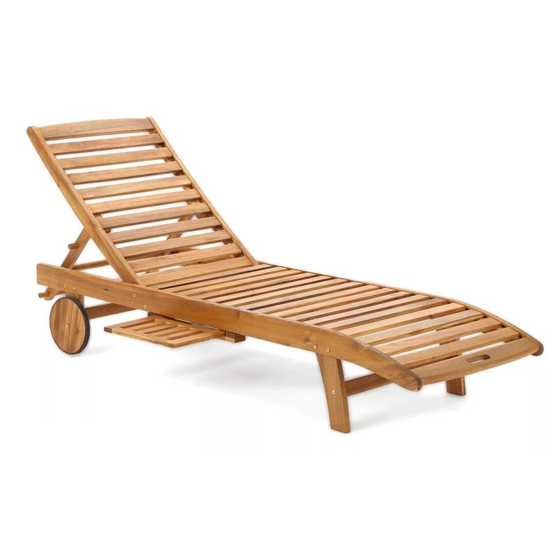 Ξαπλώστρα Acacia ξύλινη 64X200
