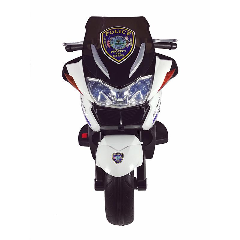 Ηλεκτροκίνητη παιδικη  μηχανή Police με ελαστικούς τροχούς   HZB-1018 12v