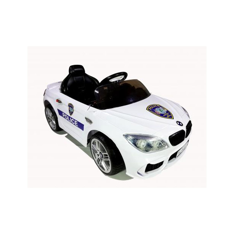 Ηλεκτροκίνητο παιδικό αυτοκίνητο τύπου BMW Police με τηλεκοντρόλ,  ελαστικά  12V HJ-1083 Λευκό