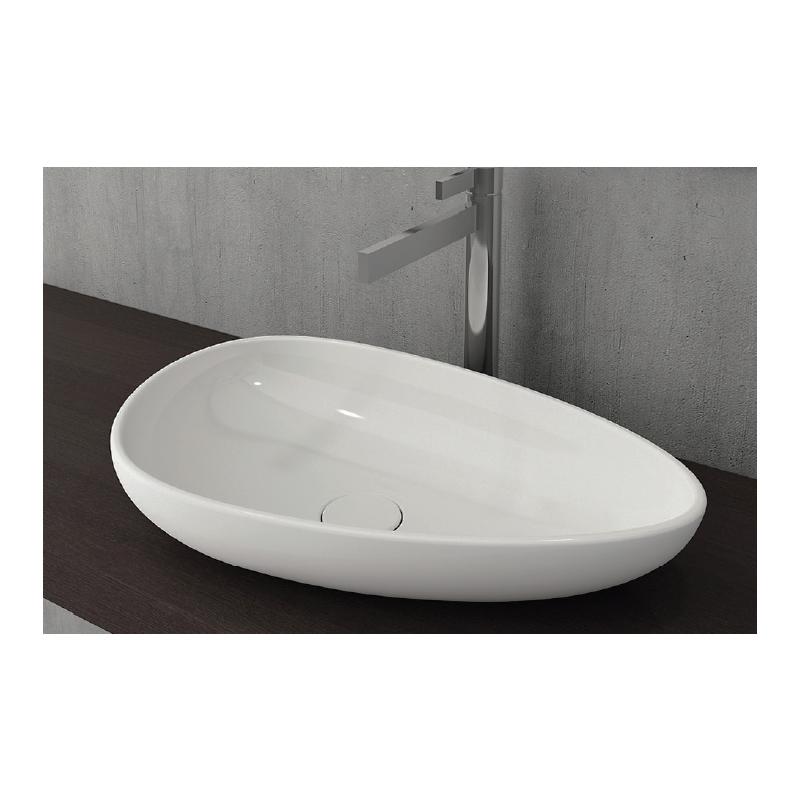 Νιπτήρας μπάνιου επικαθήμενος Bocchi Etna 58x38 cm λευκός