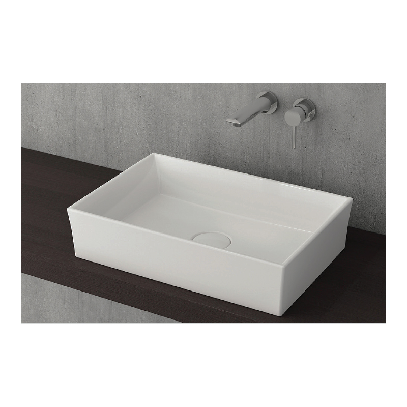 Νιπτήρας μπάνιου επικαθήμενος Bocchi Vessel 56x38 λευκός