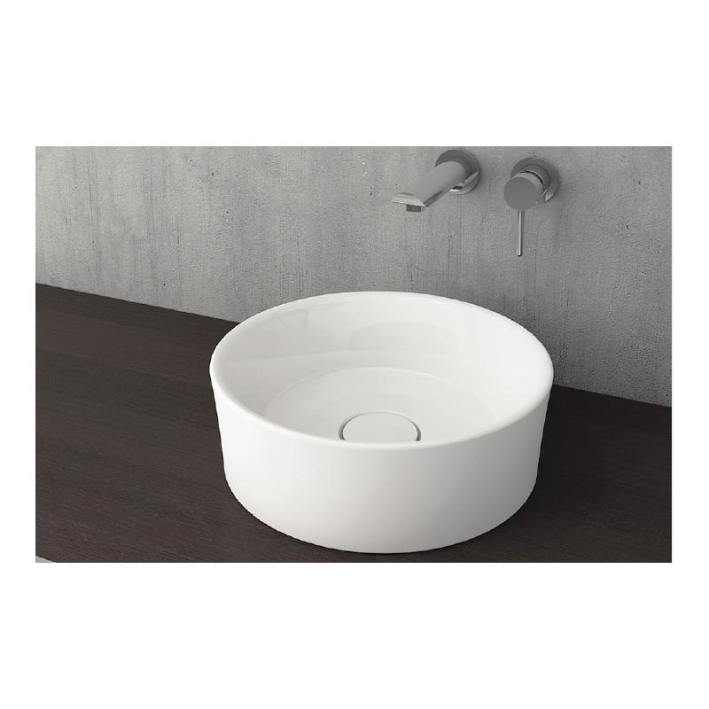 Νιπτήρας μπάνιου στρογγυλός επικαθήμενος Bocchi Vessel  Ø 38 λευκός