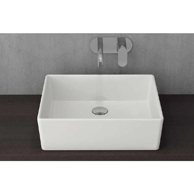 Νιπτήρας μπάνιου επικαθήμενος Bocchi Milano Corti 50x40 λευκός