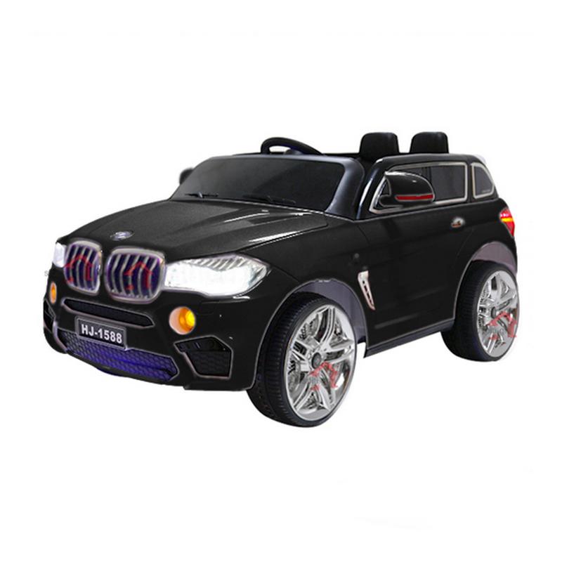 Ηλεκτροκίνητο παιδικό αυτοκίνητο τύπου BMW X5 12v Μαύρο με τηλ/ρόλ, ελαστικά 12V  HJ1588