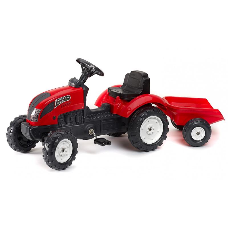 Παιδικό τρακτέρ Falk με καρότσα κόκκινο 2058J