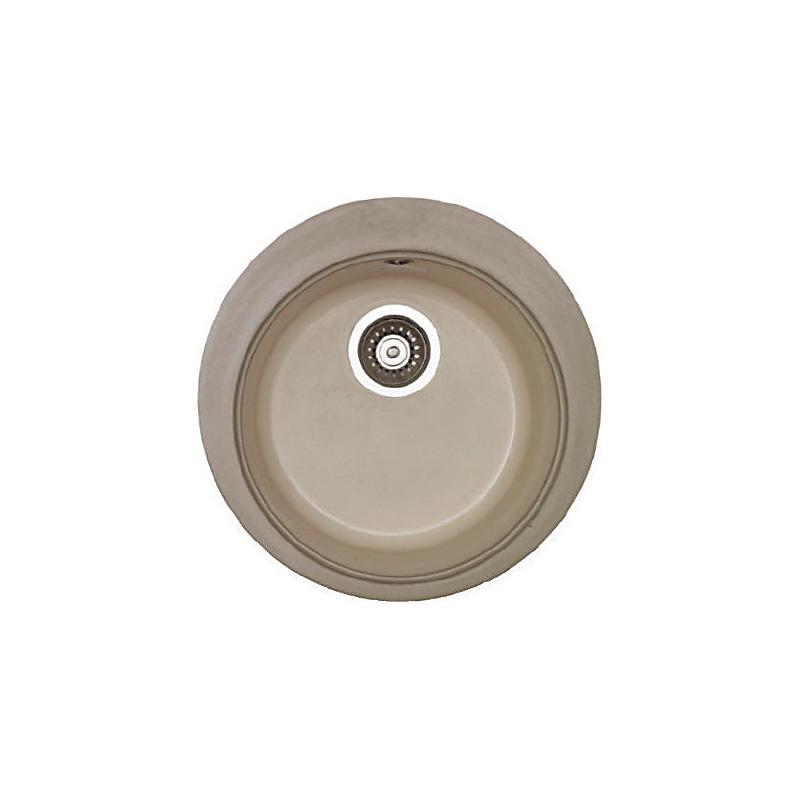 Νεροχύτης συνθετικού γρανίτη Sanitec Premium 316 1B στρογγυλος 48cm 15 χρώματα