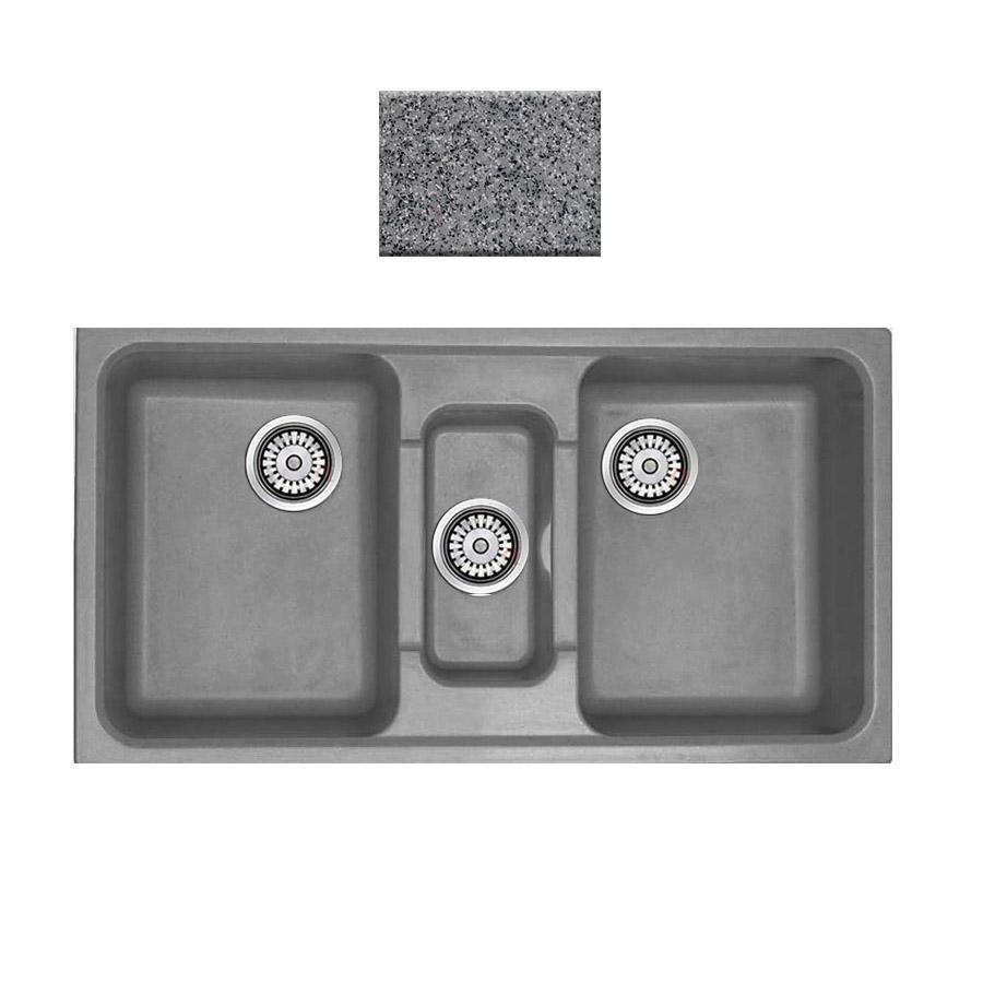 Νεροχύτης συνθετικού γρανίτη Sanitec Harmony 325 2,5B 97x51cm Granite Grey