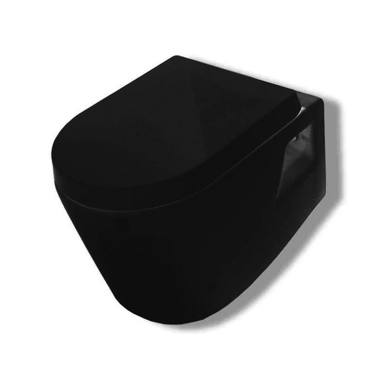 Λεκάνη μαύρη κρεμαστή με κάλυμμα Huida Skay 38-0427