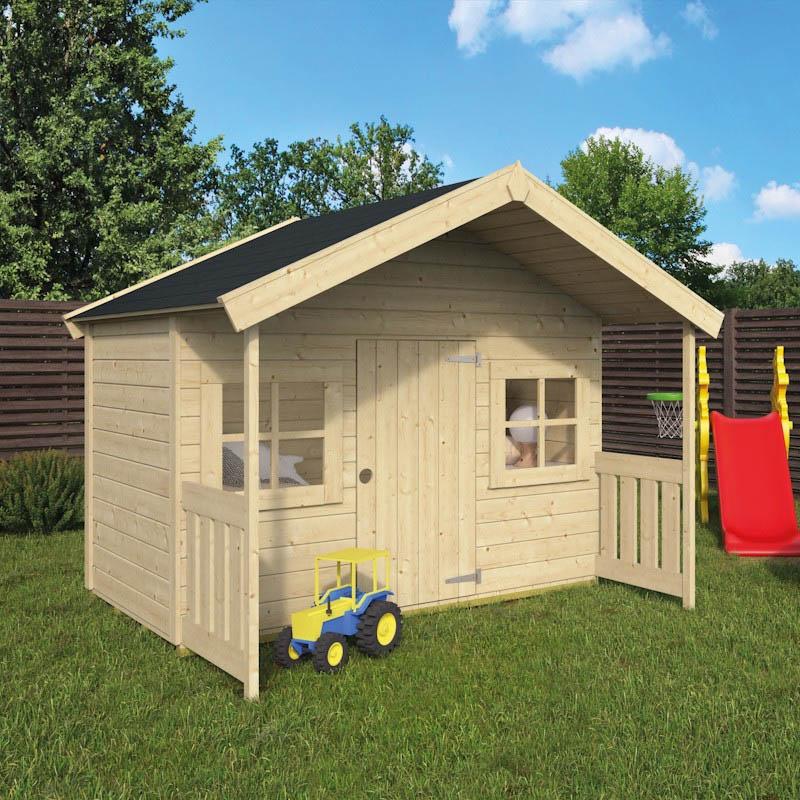 Ξύλινο Παιδικό Σπίτι ΑΛΑΝΤΙΝ 180x120cm