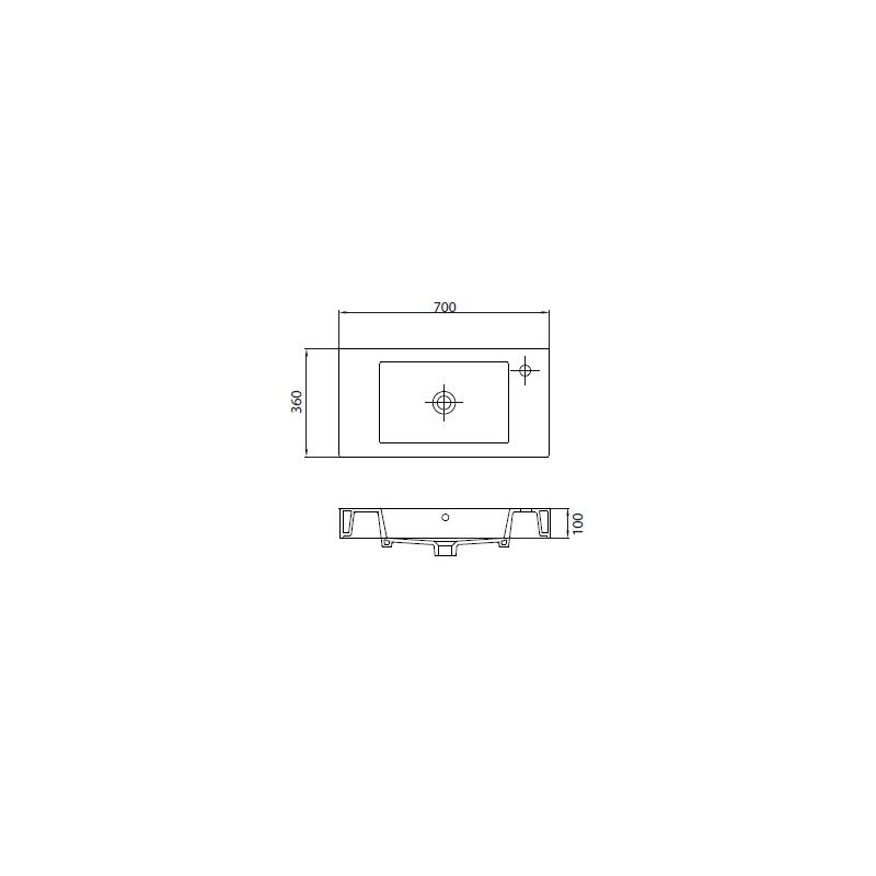 Νιπτήρας Κρεμαστός 70x36 KARAG MINOS 4054