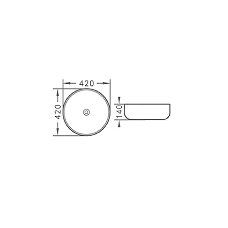 Νιπτήρας στρογγυλός  επικαθήμενος  Ø 42 KLP Vera 444939