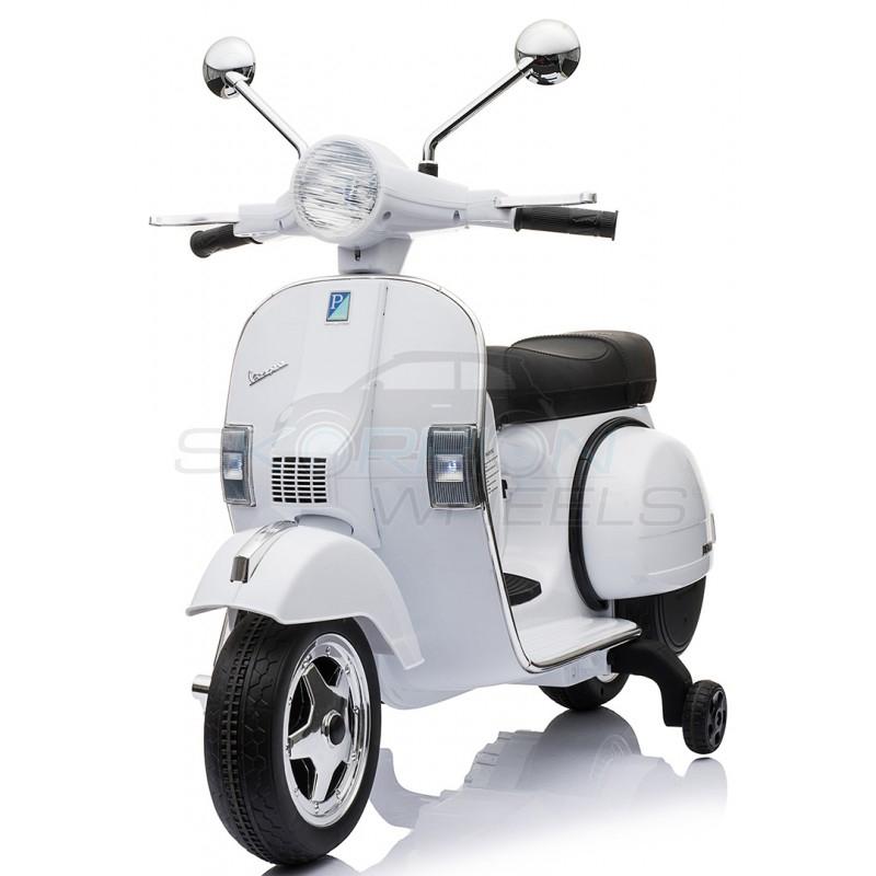 SkorpionWheels Ηλεκτροκίνητη παιδικη μοτοσυκλέτα / μηχανή Vespa Piaggio Licenced 12v Λευκή 5245050