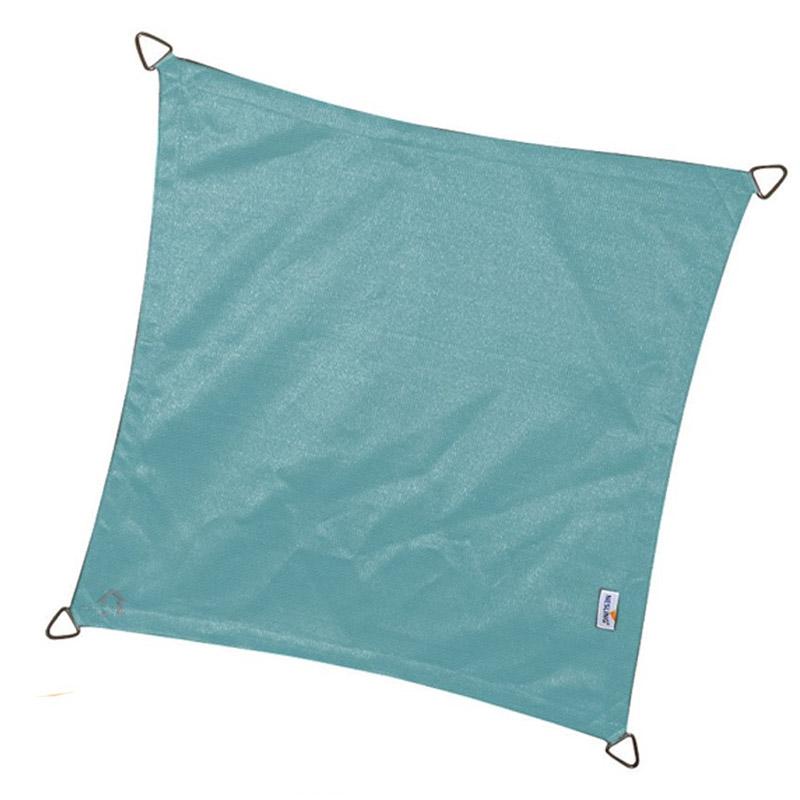 Τετράγωνο πανί σκίασης 285gsm πλευράς 3,6m χρώμα μπλε πάγου