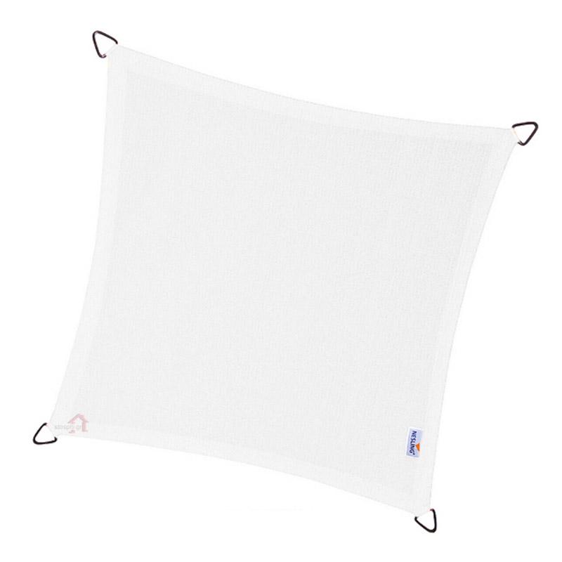 Τετράγωνο πανί σκίασης 285gsm πλευράς 3,6m χρώμα λευκό