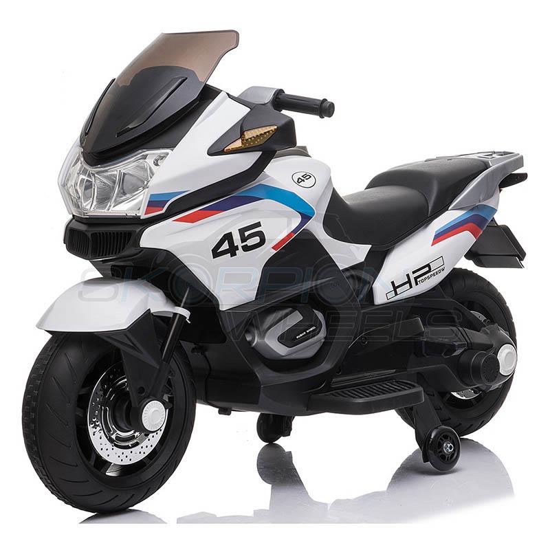 SkorpionWheels Ηλεκτροκίνητη παιδικη μοτοσυκλέτα 12V Λευκή 5245009