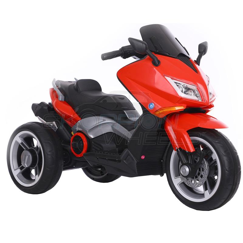 SkorpionWheels Ηλεκτροκίνητη παιδικη μοτοσυκλέτα / μηχανή τύπου Yamaha T max 12v Κόκκινη 5245090