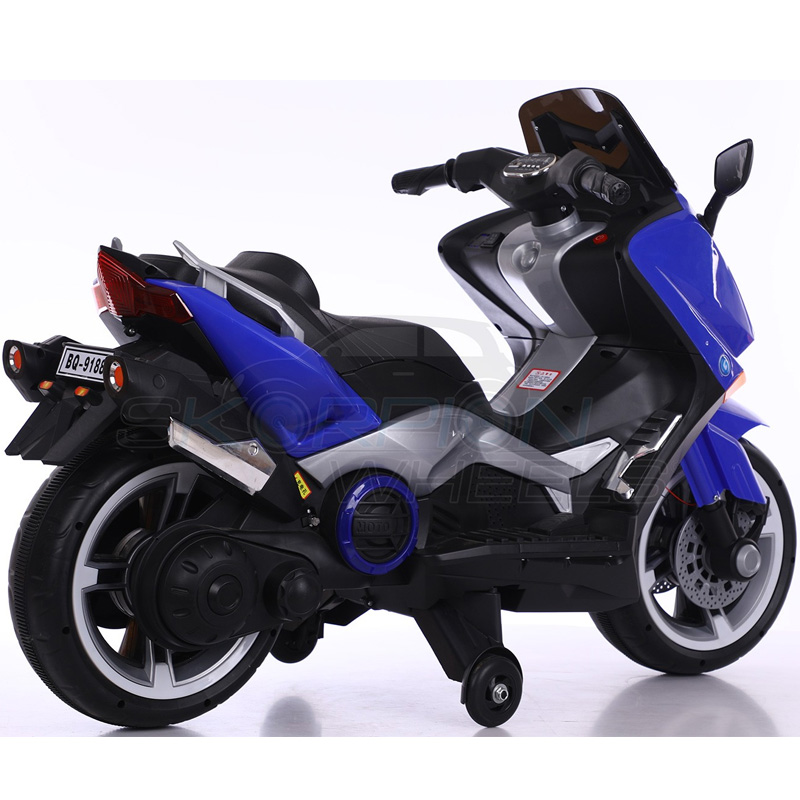 SkorpionWheels Ηλεκτροκίνητη παιδικη μοτοσυκλέτα / μηχανή τύπου Yamaha T max 12v Μπλε 5245091
