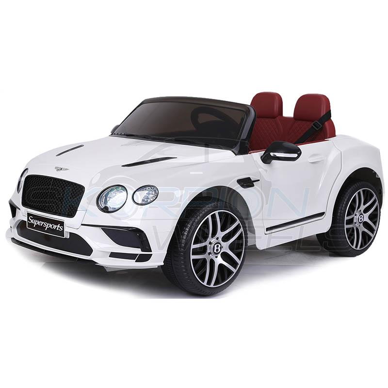 SkorpionWheels Ηλεκτροκίνητο παιδικό αυτοκίνητο Licenced Bentley Continental Supersports  12v με τηλ/τρόλ Λευκό 5246015