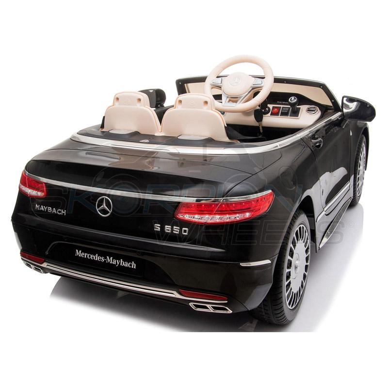 ScorpionWheels Ηλεκτροκίνητο παιδικό αυτοκίνητο Licenced Mercedes S650 12v με τηλεκοντρόλ Μαύρο 5246065