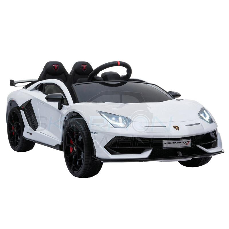 ScorpionWheels Ηλεκτροκίνητο παιδικό αυτοκίνητο Licenced Lamborghini  Avendor 12v με τηλεκοντρόλ Λευκό 5246067