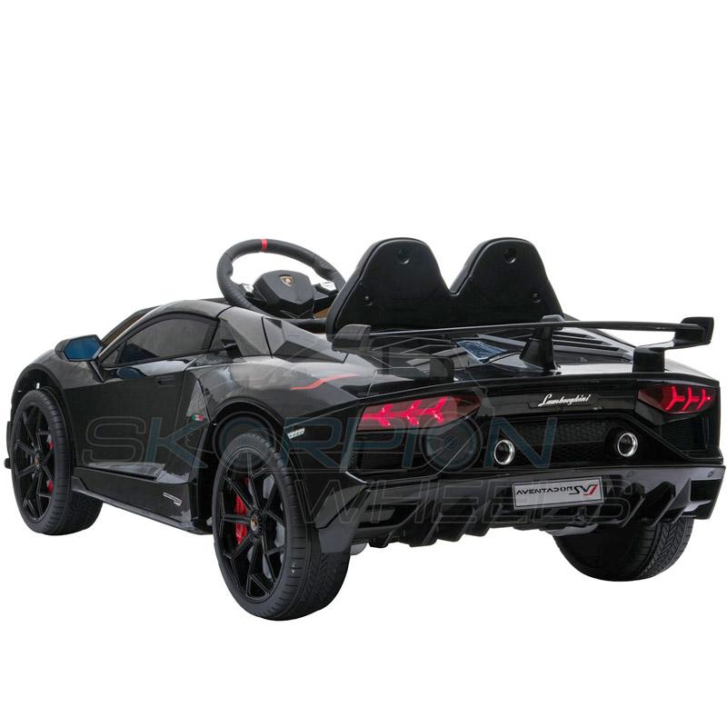 ScorpionWheels Ηλεκτροκίνητο παιδικό αυτοκίνητο Licenced Lamborghini  Avendor 12v με τηλεκοντρόλ Μαύρο 52460671