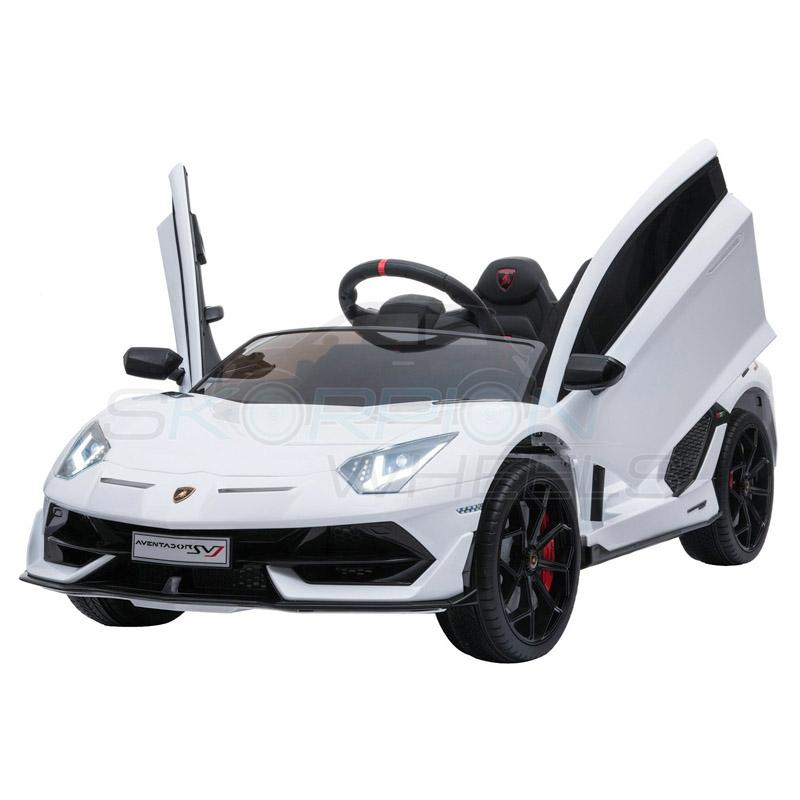 ScorpionWheels Ηλεκτροκίνητο παιδικό αυτοκίνητο Licenced Lamborghini  Avendor 12v με τηλεκοντρόλ Λευκό 52460671