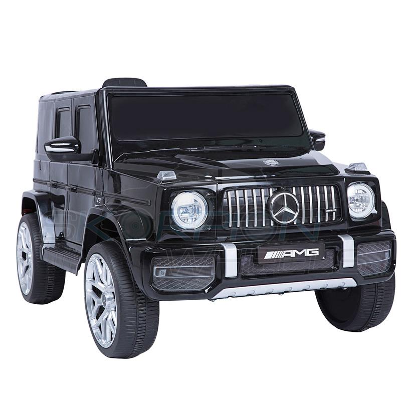 ScorpionWheels Ηλεκτροκίνητο παιδικό αυτοκίνητο Licenced Mercedes G63 AMG 12v με τηλεκοντρόλ Μαύρο 5247036