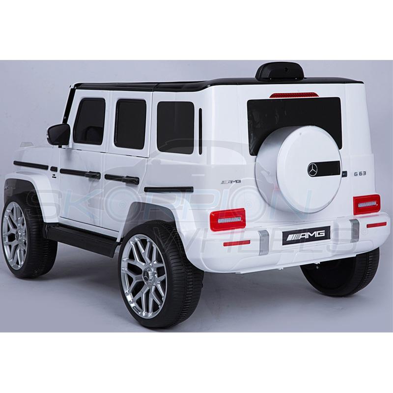 ScorpionWheels Ηλεκτροκίνητο παιδικό αυτοκίνητο Licenced Mercedes G63 AMG 12v με τηλεκοντρόλ Λευκό 5247036