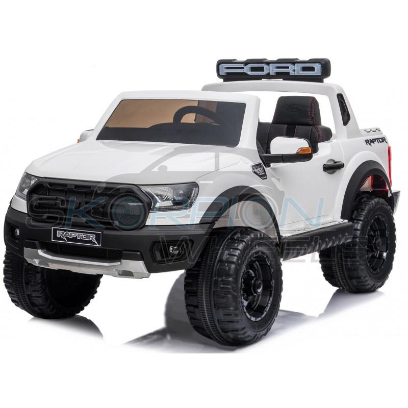 ScorpionWheels Ηλεκτροκίνητο διθέσιο παιδικό αυτοκίνητο Licenced Ford Raptor 12v με τηλ/τρόλ Λευκό 5247083