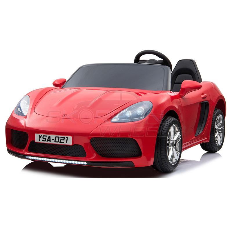 SkorpionWheels Ηλεκτροκίνητο παιδικό αυτοκίνητο τύπου Porsche 12v με τηλεκοντρόλ κόκκινο 5249012