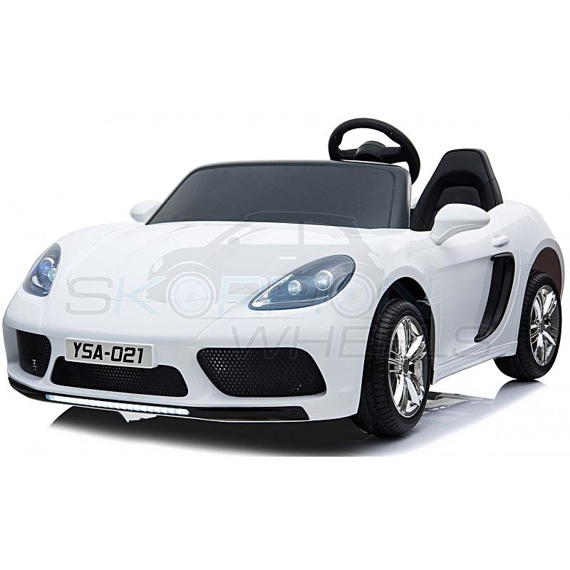 SkorpionWheels Ηλεκτροκίνητο παιδικό αυτοκίνητο τύπου Porsche 12v με τηλεκοντρόλ λευκό 5249012