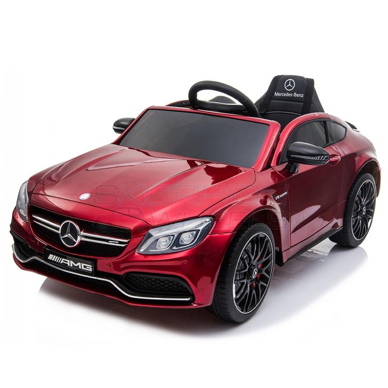 ScorpionWheels Ηλεκτροκίνητο παιδικό αυτοκίνητο Licenced Mercedes Benz 12v με τηλ/ρόλ Μπορντό 5246063