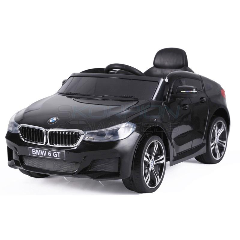 SkorpionWheels Ηλεκτροκίνητο παιδικό αυτοκίνητο τύπου BMW 6 GT 12v με τηλεκοντρόλ μαύρο 5246064