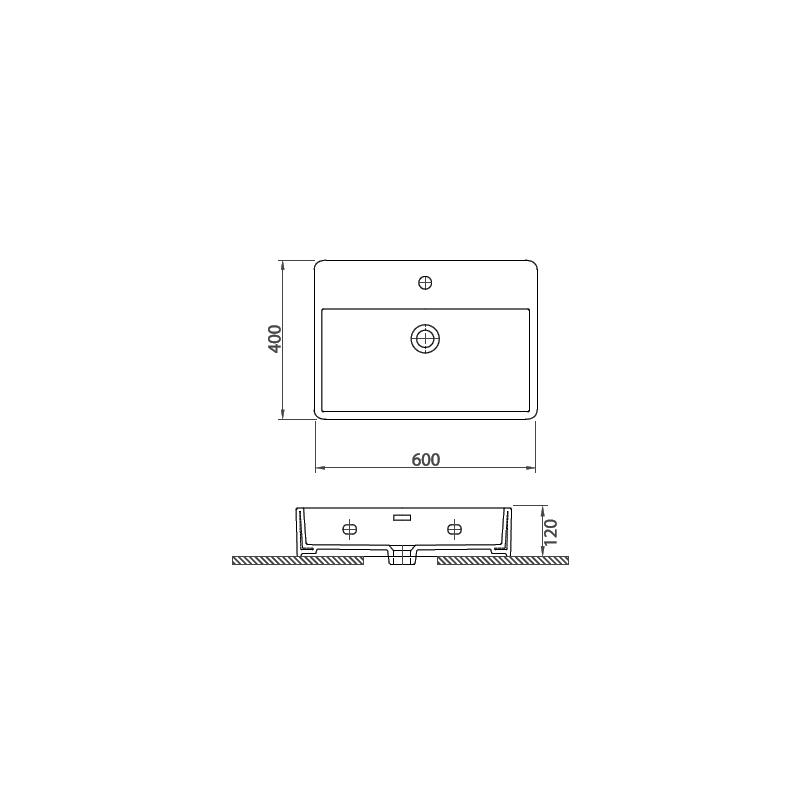 Νιπτήρας Κρεμαστός 60x40 KARAG CONTOUR 61060