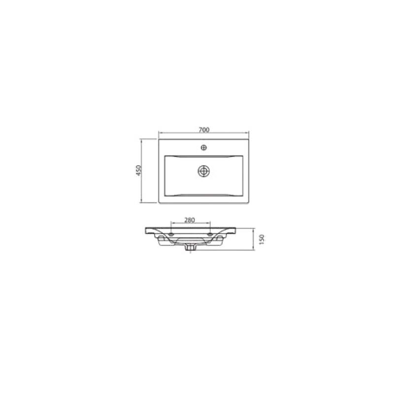 Νιπτήρας Κρεμαστός 90x45 KARAG DELFT 61070