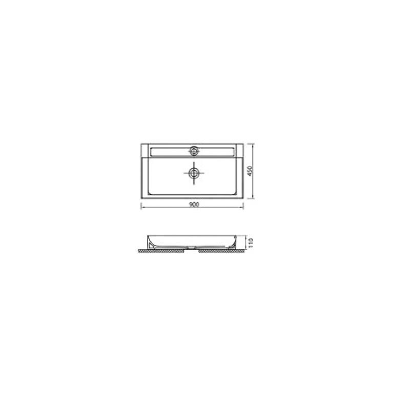 Νιπτήρας Κρεμαστός KARAG EDGE 6490