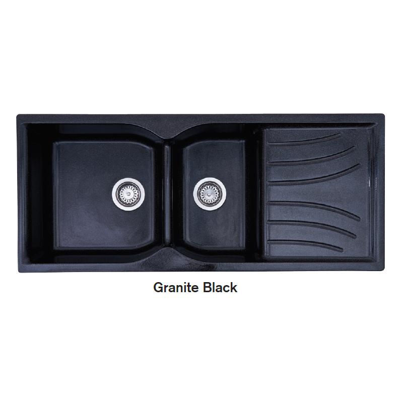 Νεροχύτης Γρανίτη 114Χ49 CROWN R - 16 ECONOMIC Granite Black