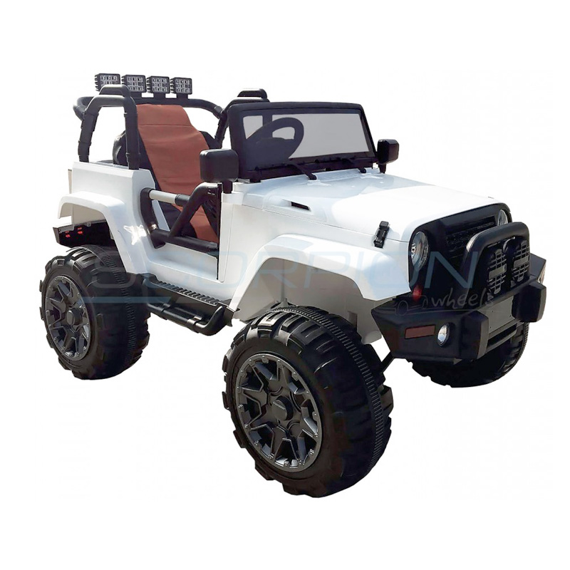 ScorpionWheels Ηλεκτροκίνητο παιδικό αυτοκίνητο τύπου Jeep Wrangler 12v Λευκό με τηλεκοντρόλ 5247005