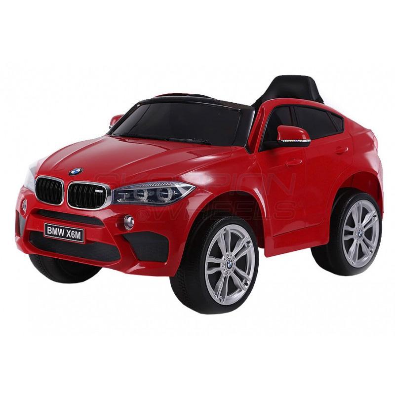 ScorpionWheels Ηλεκτροκίνητο παιδικό αυτοκίνητο Licenced BMW X6 Δερμάτινο κάθισμα 12v με τηλεκοντρόλ Κόκκινο 5247056