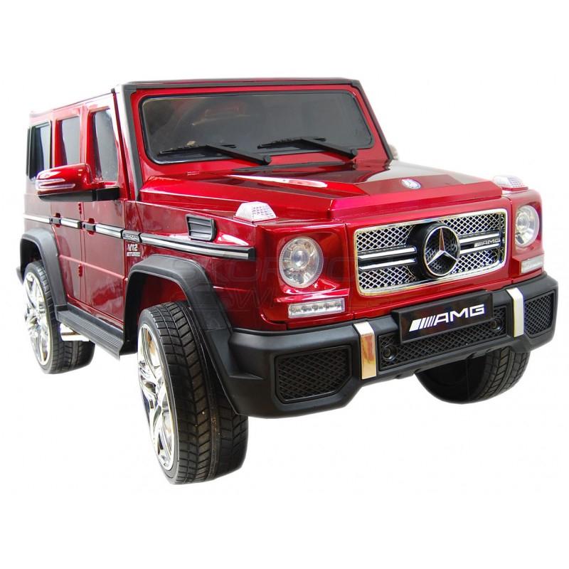 SkorpionWheels Ηλεκτροκίνητο παιδικό αυτοκίνητο Licenced Mercedes G65 AMG 12v με τηλεκοντρόλ Κόκκινο 5247065