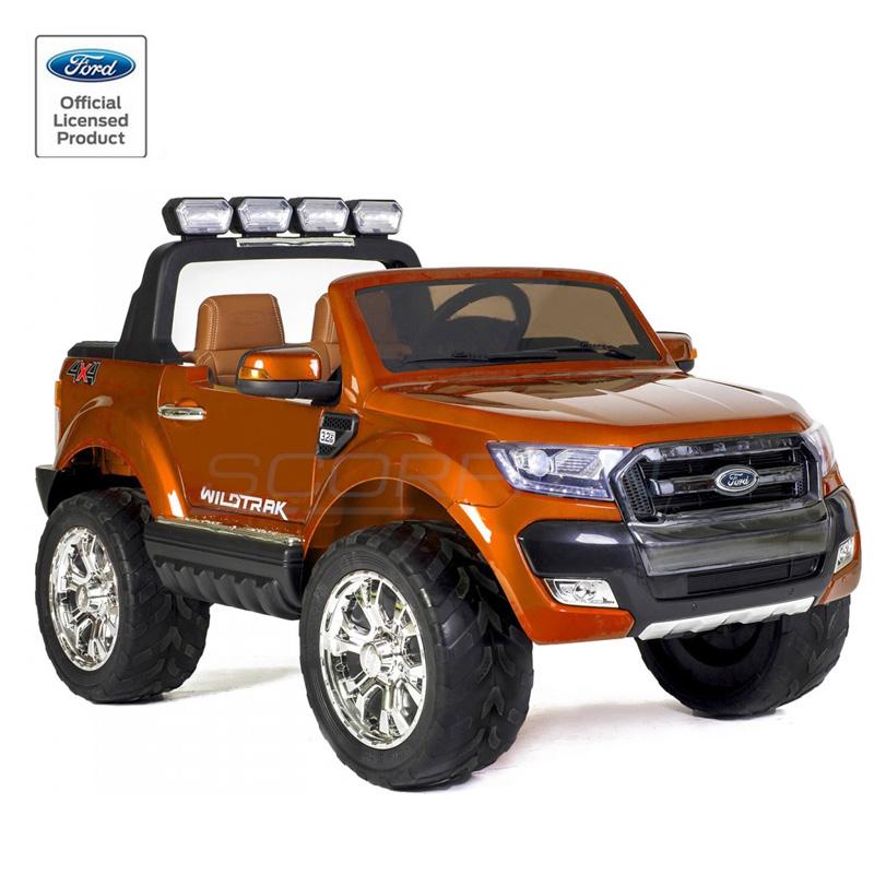 ScorpionWheels Ηλεκτροκίνητο διθέσιο παιδικό αυτοκίνητο Licenced Ford Ranger 4X412v με τηλ/τρόλ Μαύρο 5247084