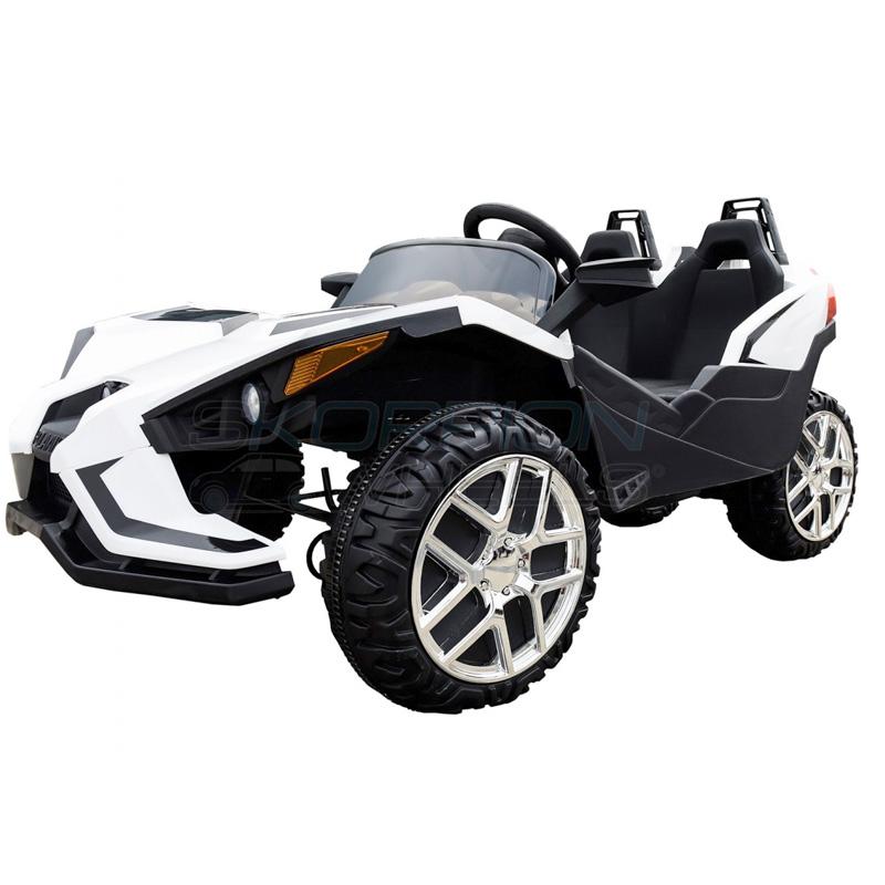 SkorpionWheels Ηλεκτροκίνητο παιδικό αυτοκίνητο τύπου Atom 12v με τηλ/ρόλ Λευκό 5248080