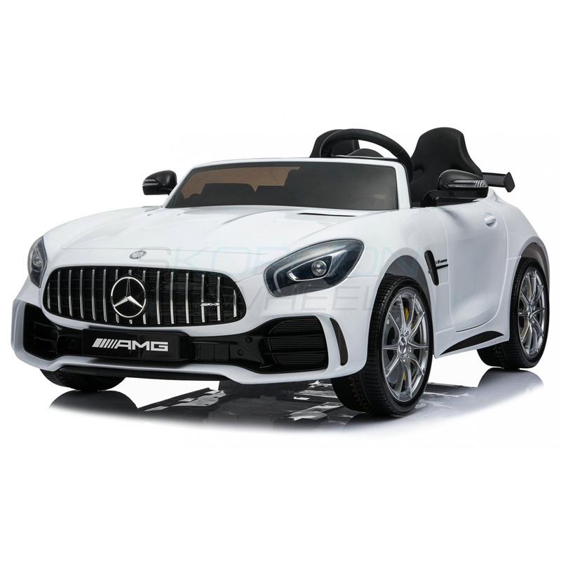 SkorpionWheels Ηλεκτροκίνητο παιδικό αυτοκίνητο Licenced Mercedes Benz GTR 12v με τηλ/ρόλ Λευκό 5248098