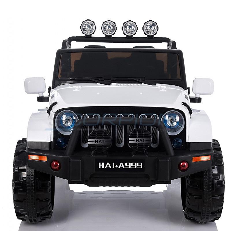 ScorpionWheels Διθέσιο Ηλεκτροκίνητο παιδικό αυτοκίνητο τύπου Jeep Wrangler  4X4  Λευκό με τηλεκοντρόλ 5248099
