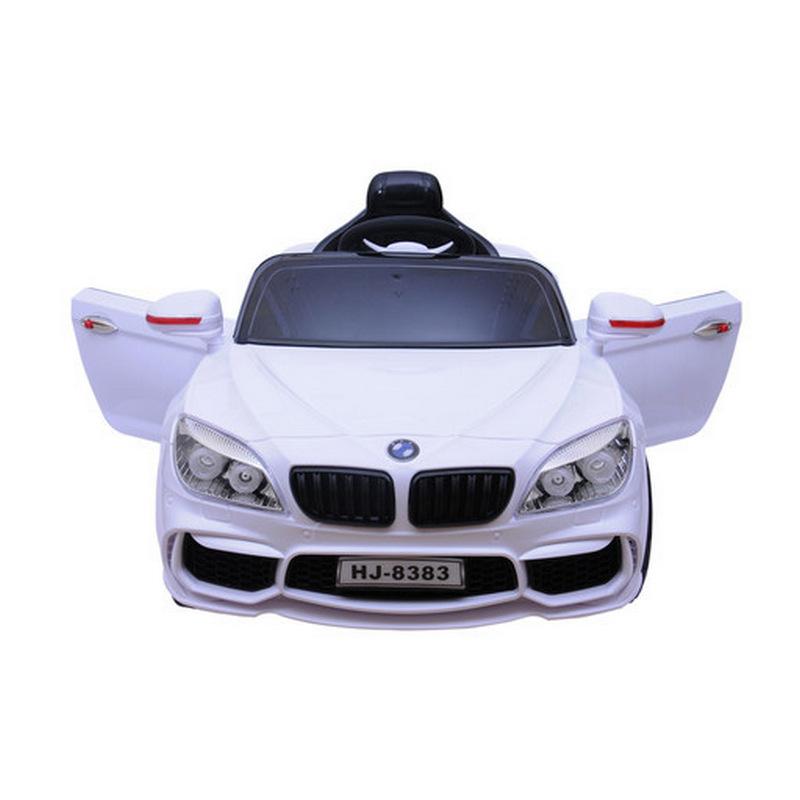 Ηλεκτροκίνητο παιδικό αυτοκίνητο τύπου BMW με τηλεκοντρόλ 12V HJ-8383 Λευκό
