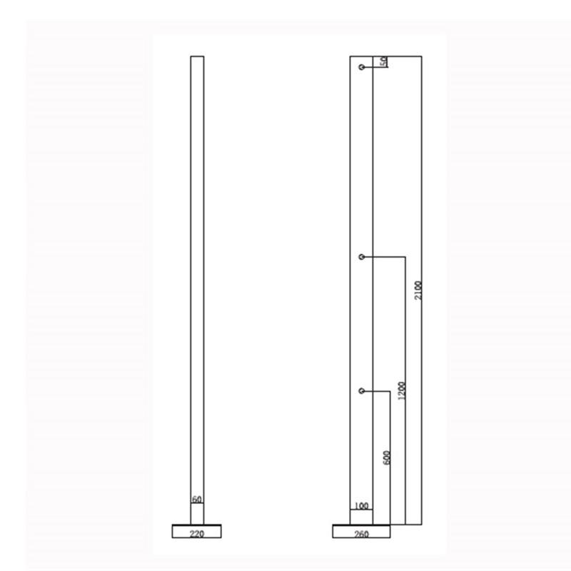 Επιδαπέδια κολώνα  ντουζιέρας - Πισίνας KARAG S-9813