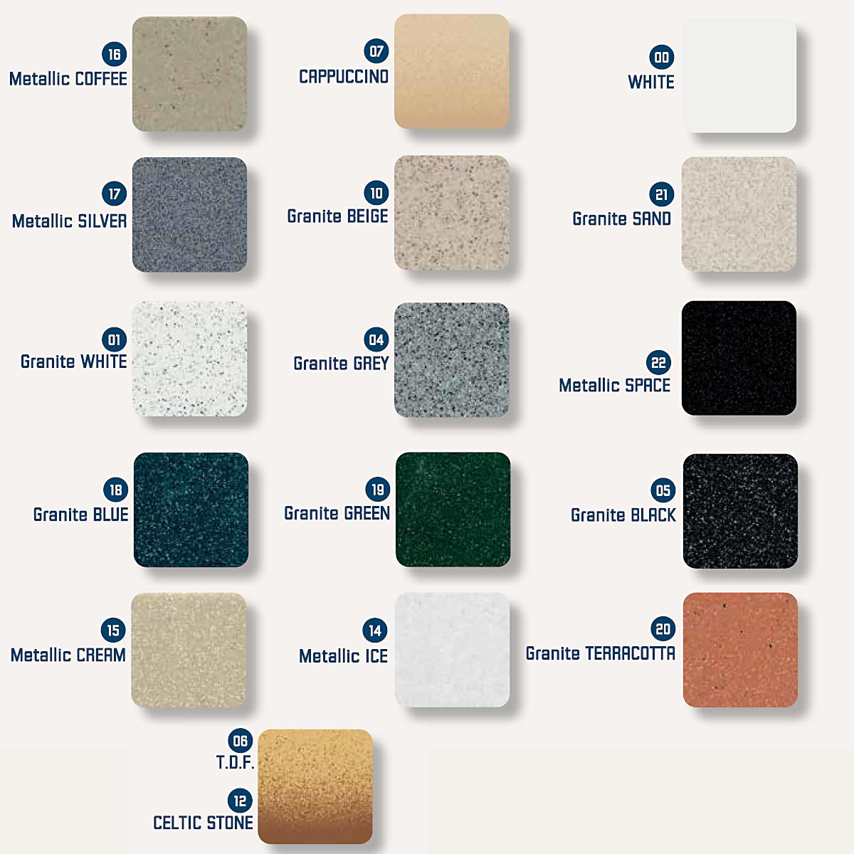Νεροχύτης συνθετικού γρανίτη Sanitec Silk 321 1B 83x51cm 15 χρώματα